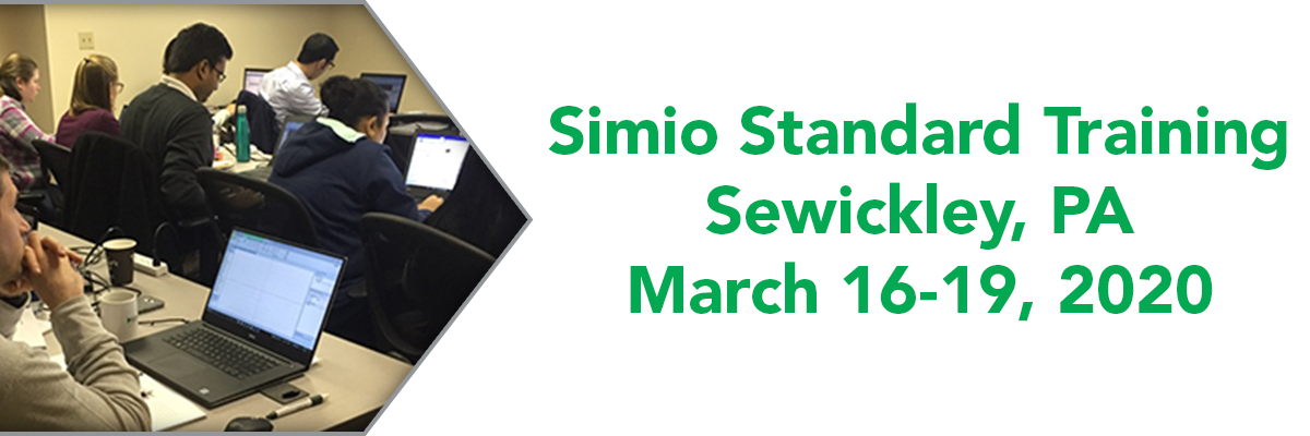 Simio 4 Day Training In Sewickley  Pa